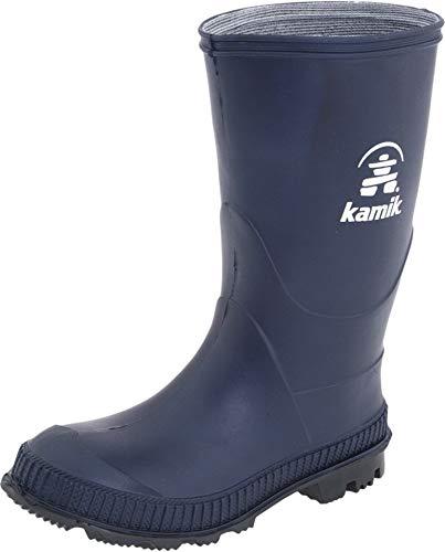 Kamik Stomp Rain Boot (Toddler/Little Kid/Big Kid),Navy/Black,5 M US Big Kid