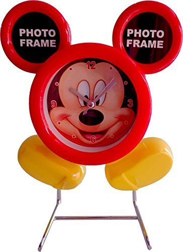 electrobot mickey mouse table clock with two photo frames one asway for your home,kids and gifts