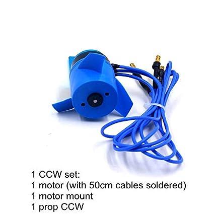 Amazon com: 2838 350KV Waterproof Brushless Motor 24V 60mm 3-Blade