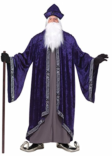 Forum Novelties Men's Grand Wizard Deluxe Designer Adult Plus Size Costume, Purple, 3X-Large
