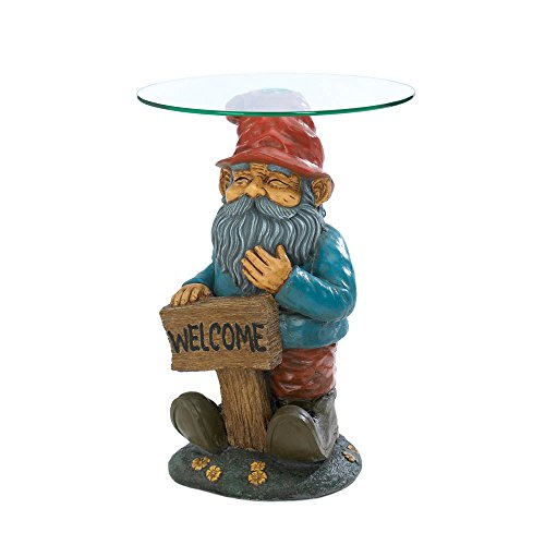 Home Locomotion Garden Gnome Glass Accent Table by Accent Plus