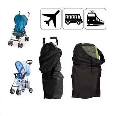 (liltourist Stroller Gate Check Bag Protective Cover, Buggy Airplane Flight Travel Bag with Carrying Handle (Black))