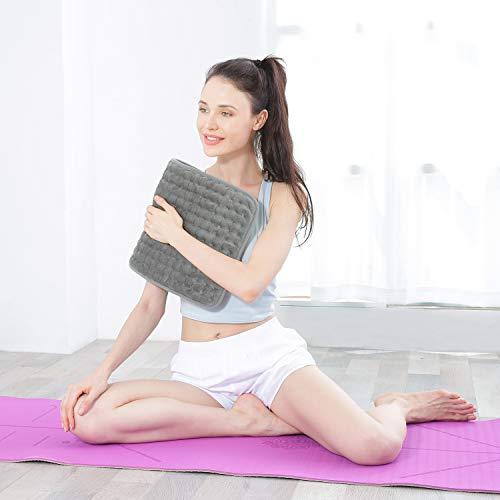 Elektrisch Heizkissen mit Abschaltautomatik für Rücken Nacken Schulter 30 * 60 Wärmekissen 6 Stufen Temperaturstufen Schnell Heiztechnik Schmerz Lindern