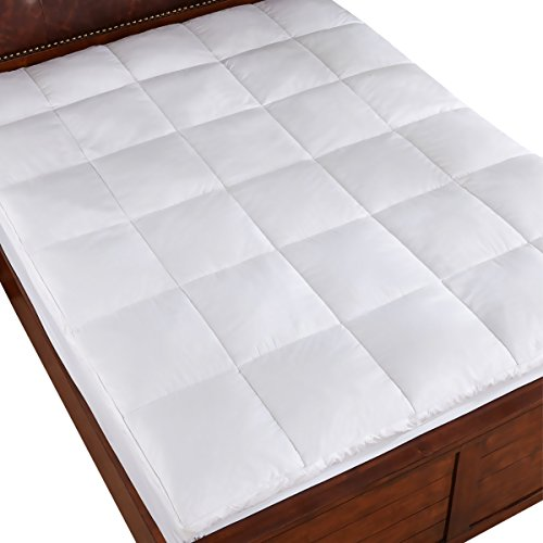 Home Elements 230 Thread Count White Goose Feather King Bed/Mattress Topper