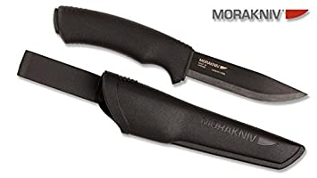 MORA BUSHCRAFT - Cuchillo, color negro: Amazon.es ...