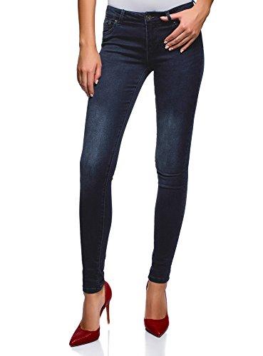 Donna Regular Vita Blu Oodji Jeans 7900w Skinny Ultra 8q5awHU