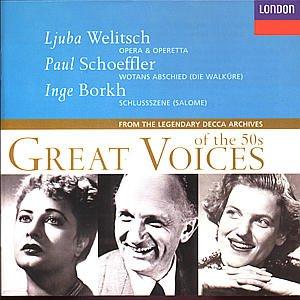 amazon great voices of the 50s 4 welitsch schoeffler borkh