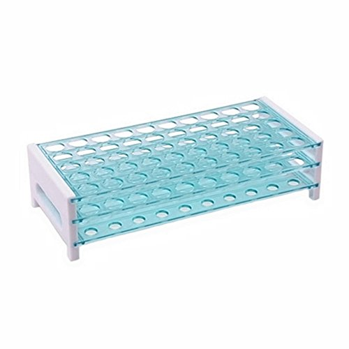 Karter Scientific 208U2 Plastic Test Tube Rack for 15/17 mm Tubes, Holds 50, Detachable