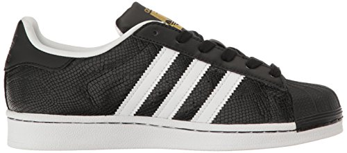 Adidas Youth Superstar Reptile J Leather Trainers Black