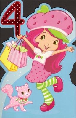 4th birthday girl strawberry shortcake birthday greetings card 4th birthday girl strawberry shortcake birthday greetings card m4hsunfo