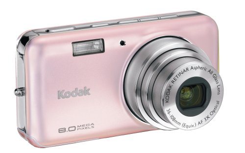 Kodak Easyshare V803 8 MP Digital Camera with 3xOptical Zoom (Pink Rose)