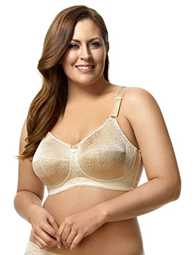 Elila Women's Plus Size Leopard-Print Wireless Bra With Lace And Support Sling