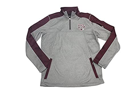 Outerstuff Boy's Youth Texas A & M Aggies Embroidered 1/4 Zip Warmup (Hoodies Texas)