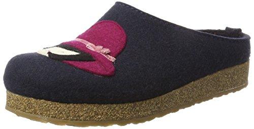 Pantofole Franzi Mittelblau Blu Grizzly 70 Haflinger Donna HpqwzPnE