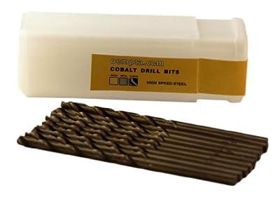1/16-Inch Cobalt Drill Bit, 10 Pack, Jobber Length