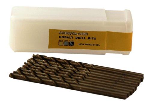 1/8-Inch Cobalt Twist Drill Bit Split Point 10 Pack
