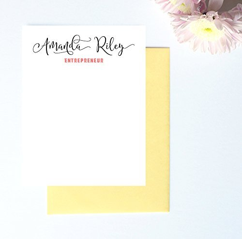 amazon com calligraphy stationary set personalized stationery for
