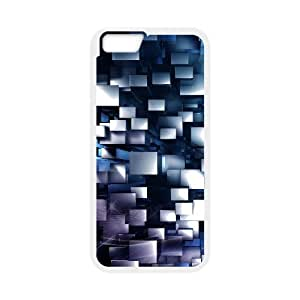 Iphone 6 Case Abstract 3D Boxes by Leemarson for White Iphone 6 (4.7)inch Screen lmar606120