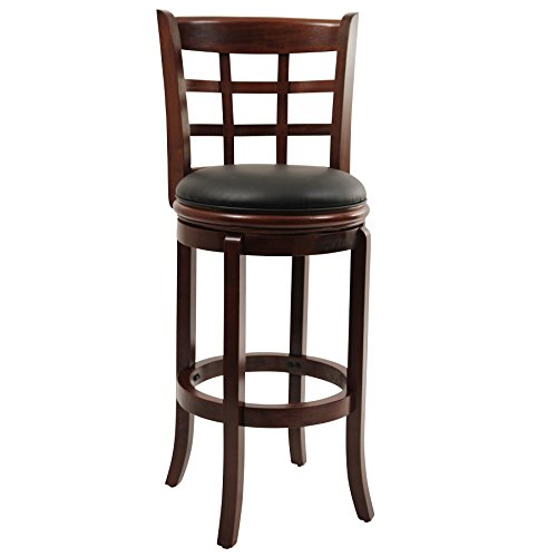 Boraam 41229 Kyoto Bar Height Swivel Stool, 29-Inch, Cherry Renewed