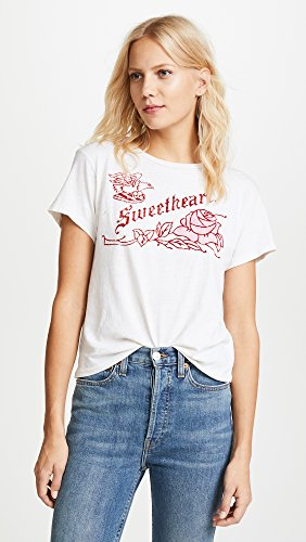 RE/DONE Women's Classic Sweetheart Tee, Vintage White, Medium by RE/DONE (Image #2)