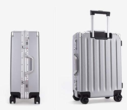 Color : Silver, Size : 29 Liufeilong ABS+PC Suitcase 21 inch Boarding Universal Wheel Trolley Travel Zipper Box