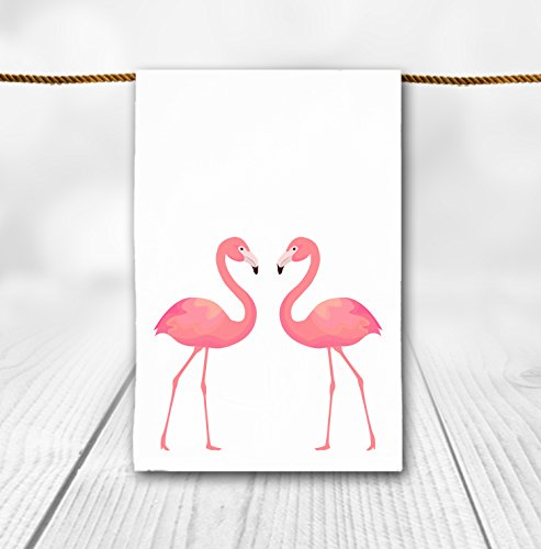- Pink Flamingo Duo Tea Towel