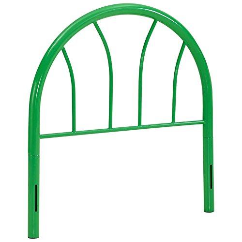 Modway Damaris Arched Rustic Farmhouse Style Steel Metal Twin Headboard in Green - Green Twin Headboard