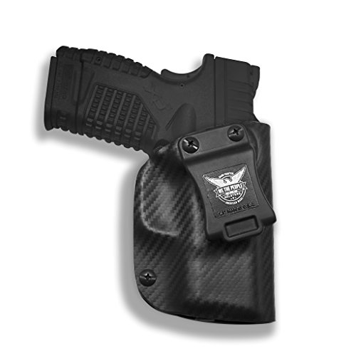Springfield XD-S 3.3 9MM/40SW/45ACP IWB Kydex Concealed Carry Holster – Custom Molded Inside Waistband Carbon Fiber Black Right Hand made in the USA …