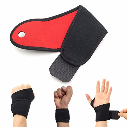 (Sports & Outdoor - Adjtable Wrist Guard Band Support Sprain Sports Gym Brace Strap - Wrist Brace Support Wraps Widget Yoga Women Athletic Compression Guard Carpal Tunnel Gloves - 1PCs)