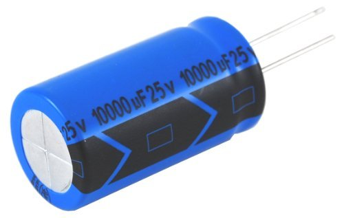 NTE Electronics NEV1500M10 Series NEV Aluminum Electrolytic Capacitor, 20% Capacitance Tolerance, Radial Lead, 1500µF Capacitance, 10V (10v Aluminum Electrolytic Capacitor Radial)