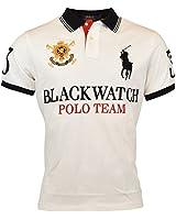 Polo Ralph Lauren Mens Custom Fit Blackwatch Polo Shirt - XL - White