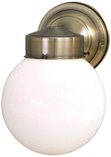 Sunset Lighting F4601-10 Outdoor Wall Sconce with Opal Glass, Polished Brass Finish 10 Polished Brass Outdoor Sconce