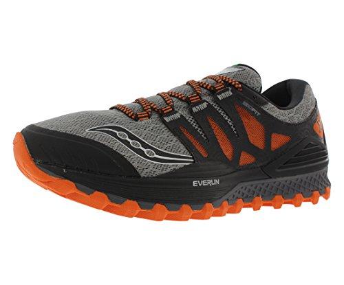 Saucony Men's Xodus Iso Trail Running Shoe, Grey/Orange/Blue, 11 M US