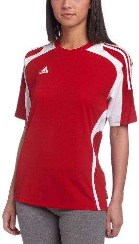 adidas Women's Toque Jersey, University Red, White, Medium