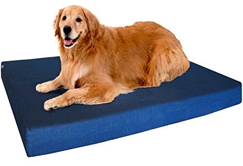 Dogbed4less Orthopedic Memory Foam Dog Bed with External Cover and...