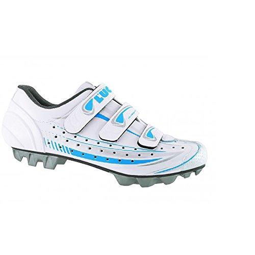 LUCK Celeste zapatos blanco/azul Talla 41 Blanco blanco y azul Talla:Tamaño 41 Blanco - blanco y azul