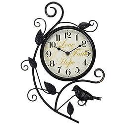 15 x 10.25 x 1.5 Better Homes and Gardens Bird Wall Clock