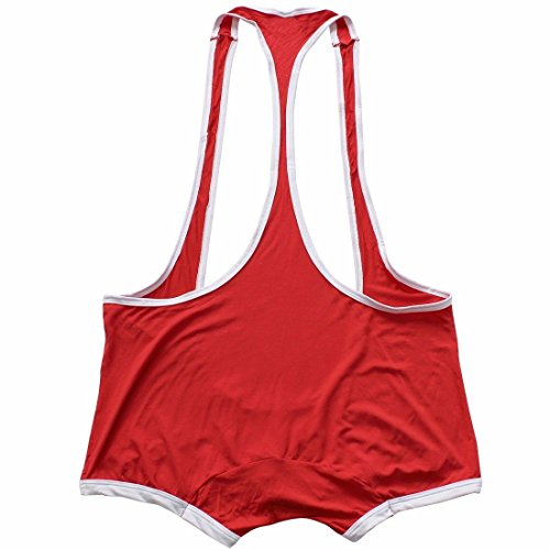 05114045bdea FEESHOW Men's Suspender Singlet Bulge Pouch Leotard Bodysuit Underwear  Briefs