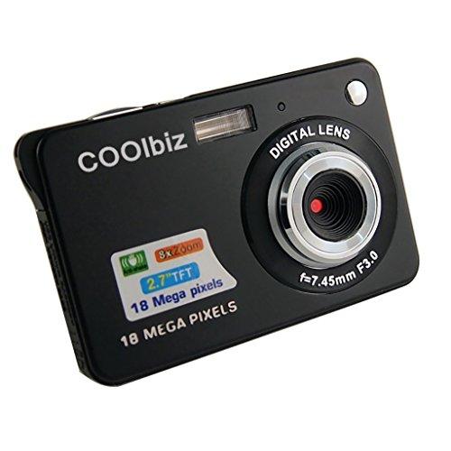 Digital Camera,Hosamtel 18 Mega Pixels 3.0MP CMOS sensor 2.7 inch TFT LCD Screen HD 720P 8X digital zoom Digital Camera