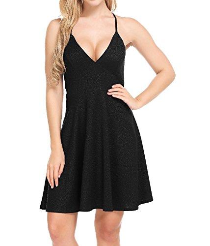 cross back black dress - 5
