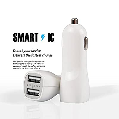iRAG Car Charger for Moto E5(Plus,Play) G4(Plus,Play) G5S Plus/G5-3.1A 2-Port USB Charge Adapter with 6FT Micro USB Charging Cable Cord: Home Audio & Theater