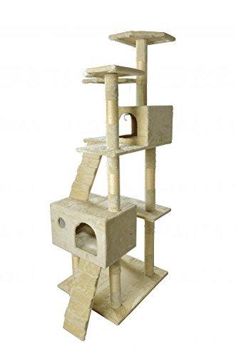 BestPet-CT-9073-Cat-Tree-Scratcher-Play-House-Condo-Furniture-Toy-73-Inch-Beige