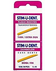 Stimudent Tandenstokers Dun, 4 x 40 Stuk