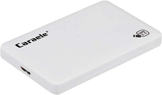 gazechimp 外付けハードディスク HDD ポータブル USB 3.0 モバイルディスクドライブ 高速転送 レザーケース付き - 500GB