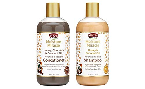 AFRICAN PRIDE MOISTURE MIRACLE HONEY&COCONUT OIL SET (SHAMPOO&CONDITIONER)