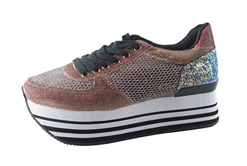 82bae81eebef ROXY ROSE Women Comfortable Platform Sneakers Breathable Mesh Casual  Walking Shoes - Buy Online in Oman.