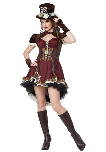 Halloween Costumes For Teen Girls (California Costumes Women's Steampunk Girl Adult, Burgundy/Brown, Small)
