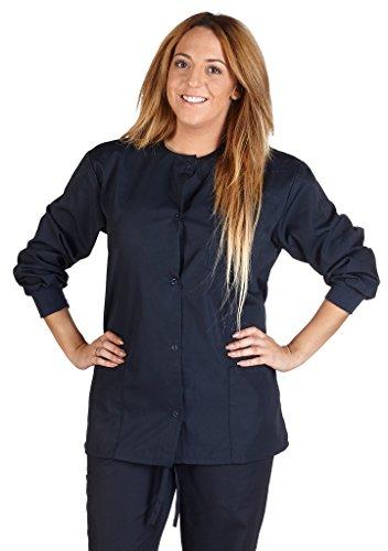M&M Scrubs Women's Scrub Jacket Medical Scrub Jacket S Dark Navy Blue