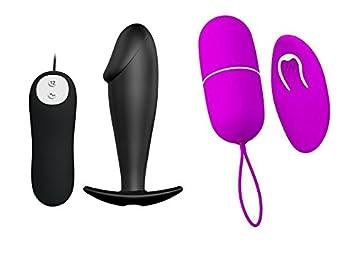 Kit del piacere Huevo Huevo Vibrador Vaginal + Vibrador Butt Plug Anal Dilatador Pene blanco negro pene fallo Hombre Mujer Giochi par KSX.012: Amazon.es: ...