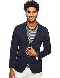 Men's Slim Fit Stretch Solid Tech Seersucker Jacket